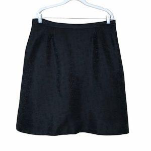 i.e. Black Textured Tulle A-Line Skirt